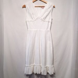 Philip Decaprio White Eyelet Dress Size 2